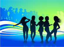 Sexy women dancing at a party Royalty Free Stock Image