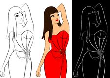 Sexy women in dress Royalty Free Stock Photos