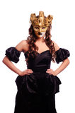 women in golden mask Royalty Free Stock Photography