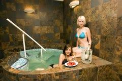 women in hot tub Royalty Free Stock Photos