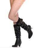 women legs with boot Stock Photography
