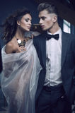 Beauty women and handsome men Royalty Free Stock Image