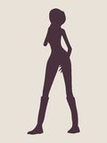 Sexy women silhouette Royalty Free Stock Images