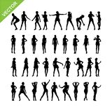 Sexy women silhouettes vector set 16. Set of sexy women silhouettes vector set 16 Royalty Free Stock Image