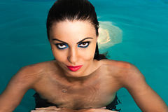 Sexy women in water Stock Photos