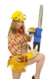 Sexy worker Royalty Free Stock Photos