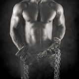 Sexy worker in black and white Royalty Free Stock Photos