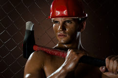Sexy workman Stock Images