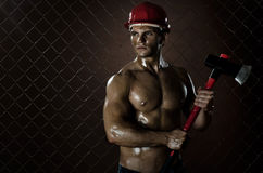 Sexy workman Royalty Free Stock Photo