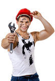 Sexy workman Royalty Free Stock Photography