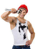 Sexy workman Royalty Free Stock Images