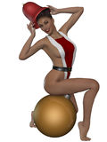 Sexy xmas girl Stock Image