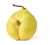 Yellow pear. Isolated on white background stock photo