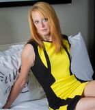 Sexy in yellow (11) Royalty Free Stock Photo