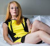 Sexy in yellow (12) Stock Photography