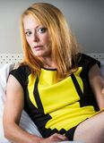 Sexy in yellow (25) Stock Photography
