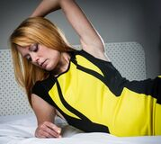 Sexy in yellow (27) Royalty Free Stock Photo