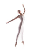 Sexy young ballerina posing at camera Royalty Free Stock Photo