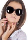 Sexy, young, beautiful woman wearing sunglas Stock Image