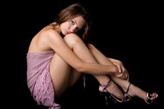 The sexy young beauty woman Royalty Free Stock Photography