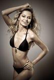 Sexy young blond girl in bikini Stock Image