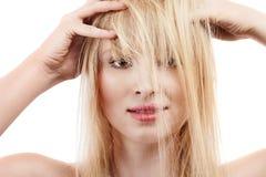 Sexy young blonde girl Stock Photos