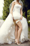 Sexy young bride Stock Photography