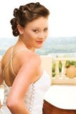 Sexy young brunette bride Stock Photography