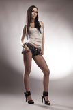 young brunette in full length Royalty Free Stock Photography