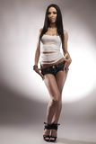 young brunette in full length Royalty Free Stock Images