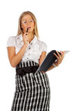 Sexy young businesswoman Stock Photography