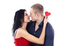 Sexy young couple before kiss Royalty Free Stock Image