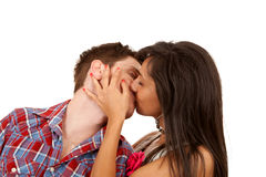 Sexy young couple kissing Royalty Free Stock Image