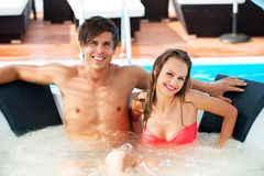 Sexy young couple relaxing Royalty Free Stock Photo