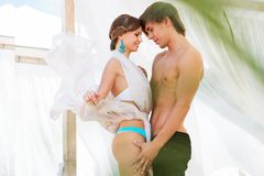 Sexy young couple relaxing Royalty Free Stock Image