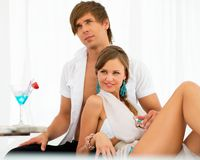 Sexy young couple relaxing Stock Photo