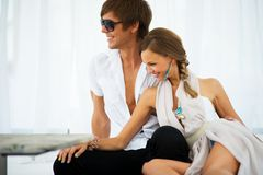 young couple relaxing Royalty Free Stock Photography