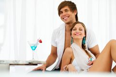 Sexy young couple on resort Royalty Free Stock Images