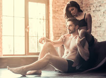 Sexy young couple Stock Photography