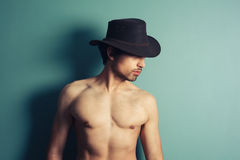 Sexy young cowboy Royalty Free Stock Photo