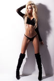 Sexy young fashion model standing Royalty Free Stock Photos