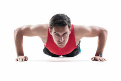 Young fashion sport muscle man, fitness model royalty free stock photography