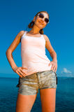 Sexy young female. Posing on the beach Royalty Free Stock Photo