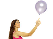 Sexy young girl with balloon Royalty Free Stock Photography