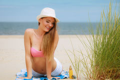 Sexy young girl on beach Royalty Free Stock Image