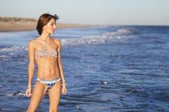Sexy young girl in bikini Stock Images