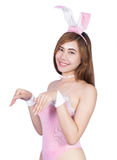 Sexy young girl in lingerie or bunny girl Royalty Free Stock Images