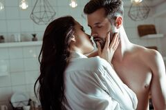 Free Sexy Young Passionate Couple Kissing In Stock Photography - 186716352