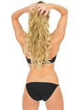 Sexy Young Pin Up Model Wearing Black Lingerie Shot From Behind Royalty Free Stock Image