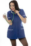 Young Pin Up Model Wearing A Nurses Uniform In Pin Up Glamo Royalty Free Stock Images